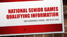 Open news item - 2022 National Senior Games Qualifiers (as of 12/31/2020)